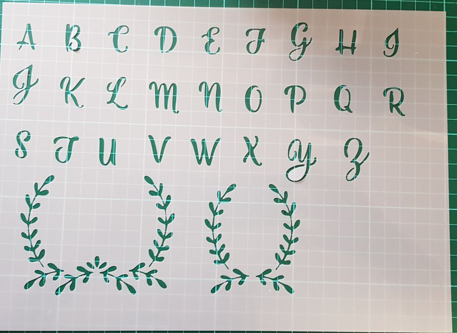 Letters and monogram Backdrop stencil