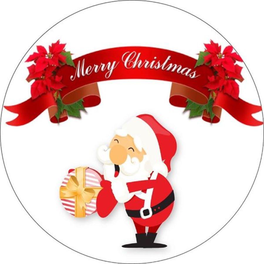 Santa merry Christmas topper
