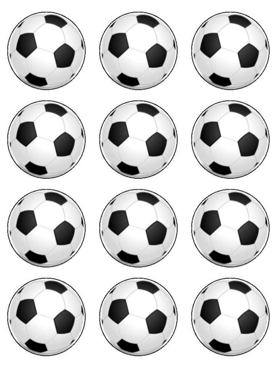 football Cupcake Toppers X 12