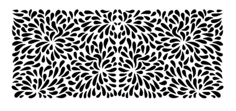 splots 9.5 by 4 inch tall stencil