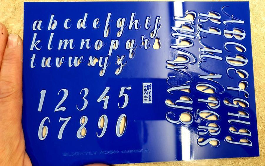 Slightly Posh Alphabet Stamps