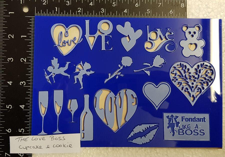 The Love Boss acrylic fondant Boss stamps