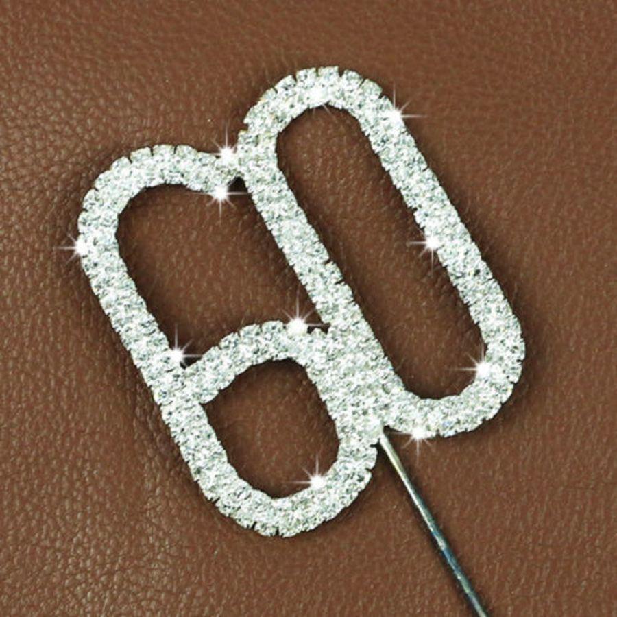 Rhinestone Diamante Crystal Birthday Cake Topper 60