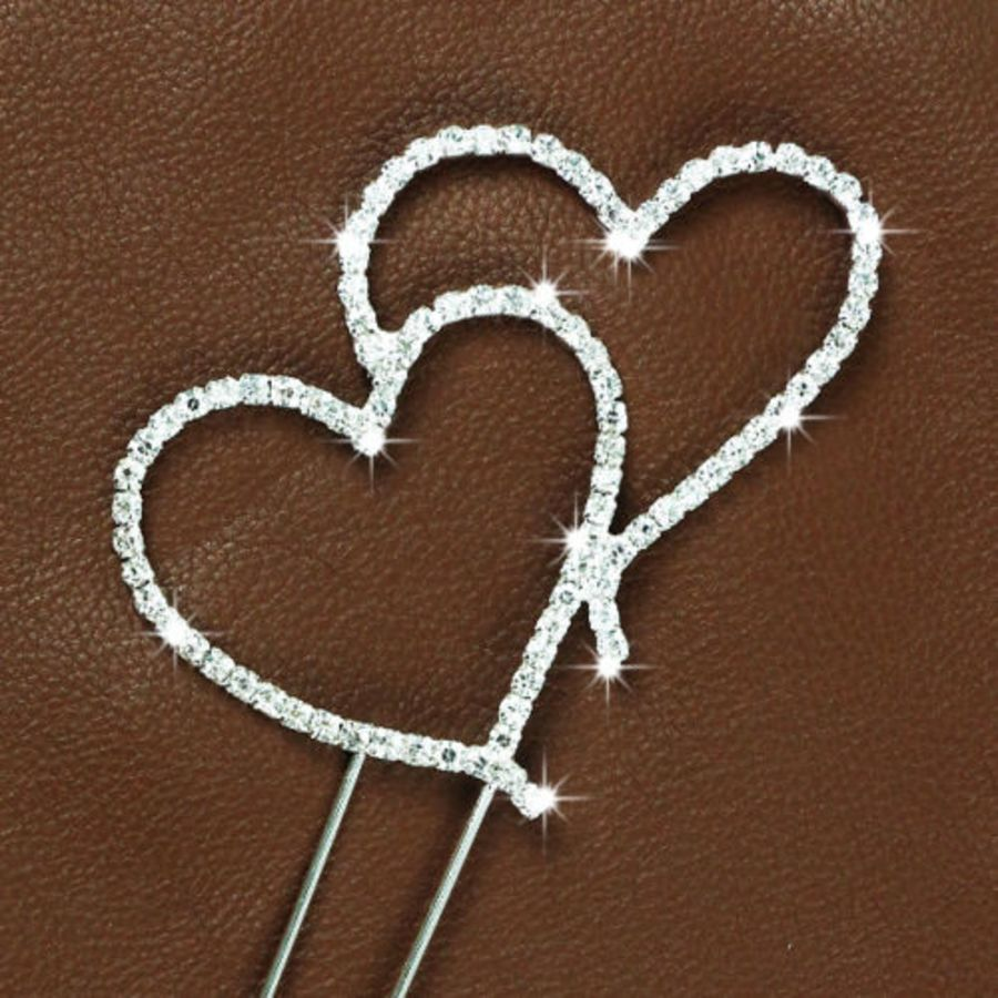 Rhinestone Diamante Crystal love hearts