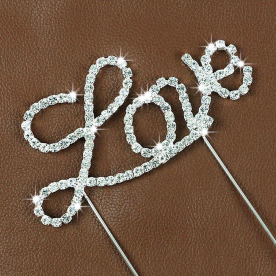 Rhinestone Diamante Crystal love