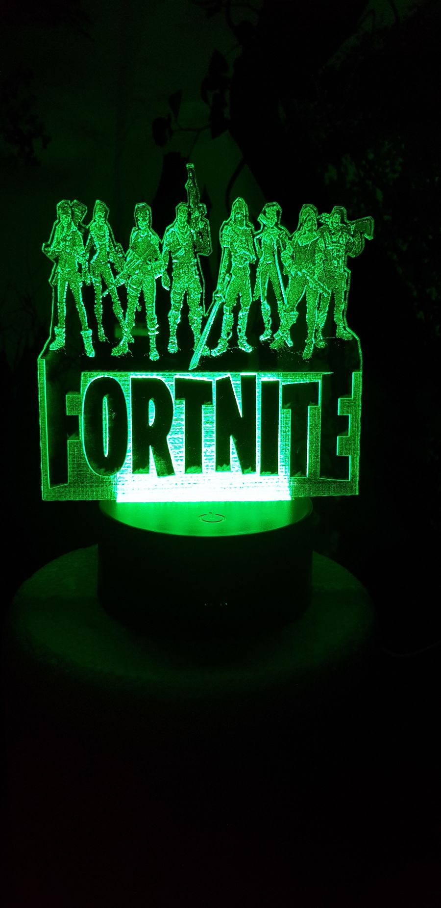 fortnite with characters light up cake topper night light