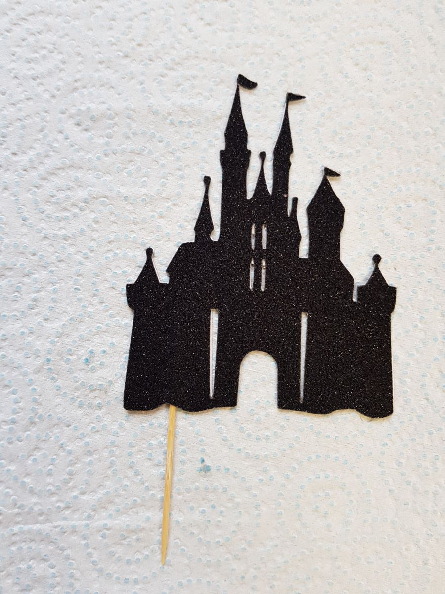 Castle disney type cake card topper