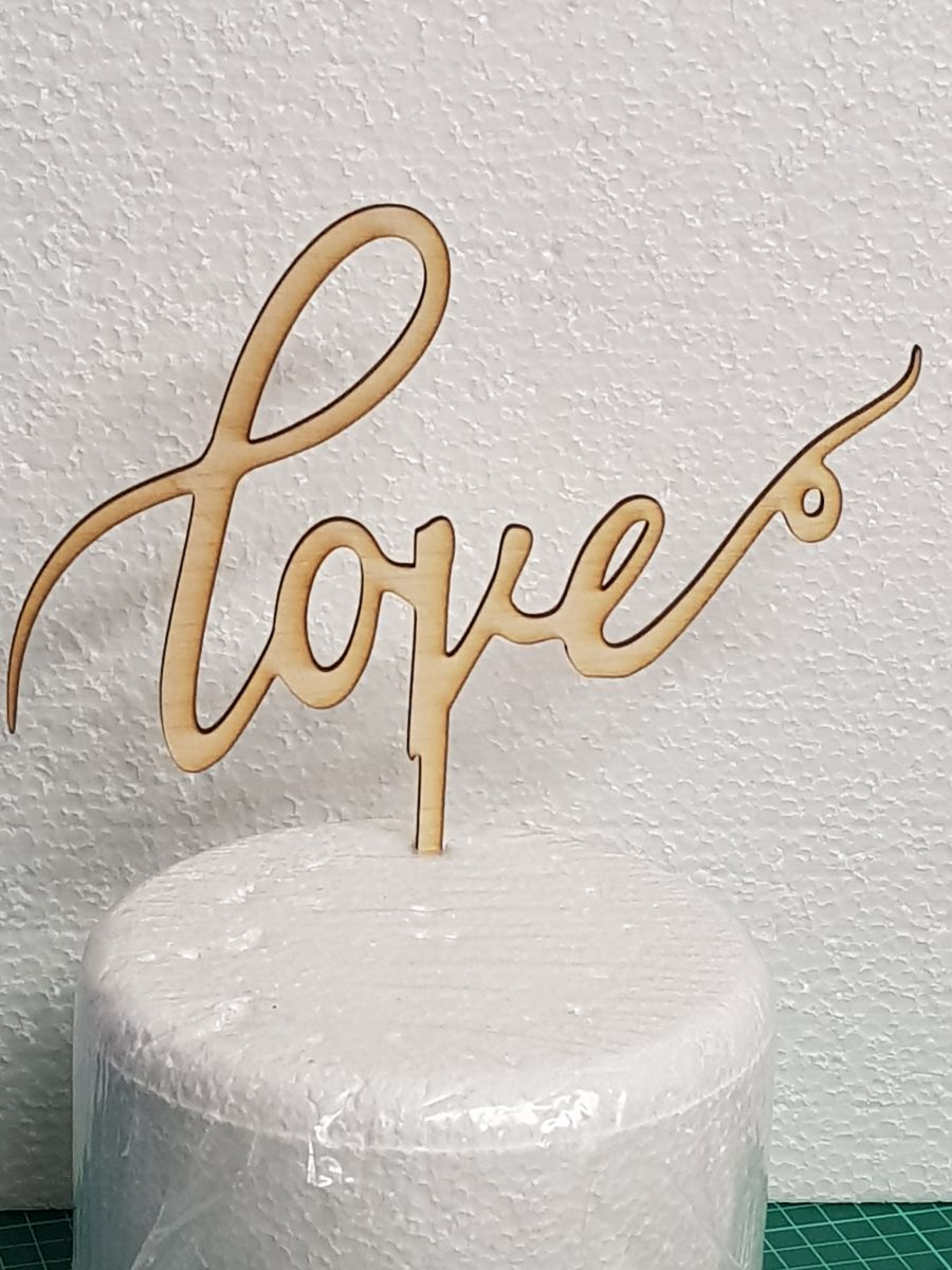 Love just simple love Wood cake topper