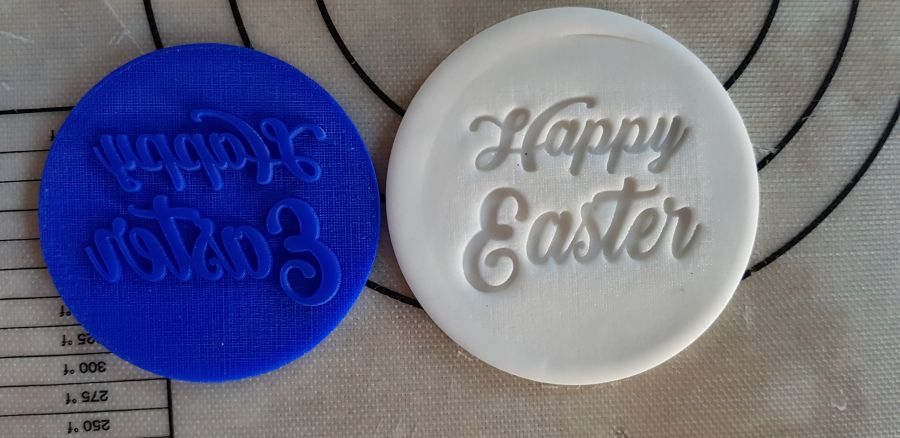 Happy Easter 2 Acrylic stamp for fondant
