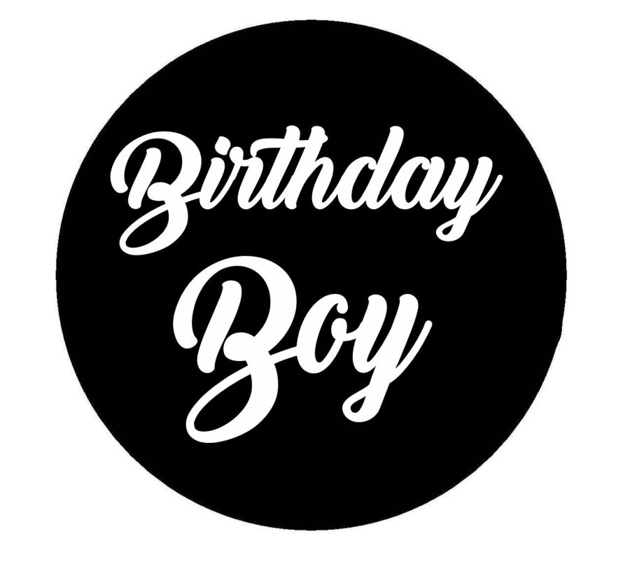 Birthday boy acrylic stamp for fondant