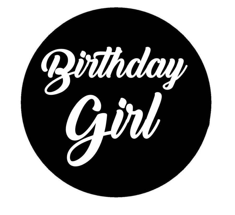 Birthday Girl acrylic stamp for fondant