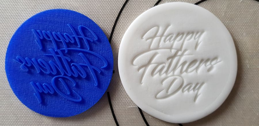 Happy Fathers day acrylic stamp for fondant