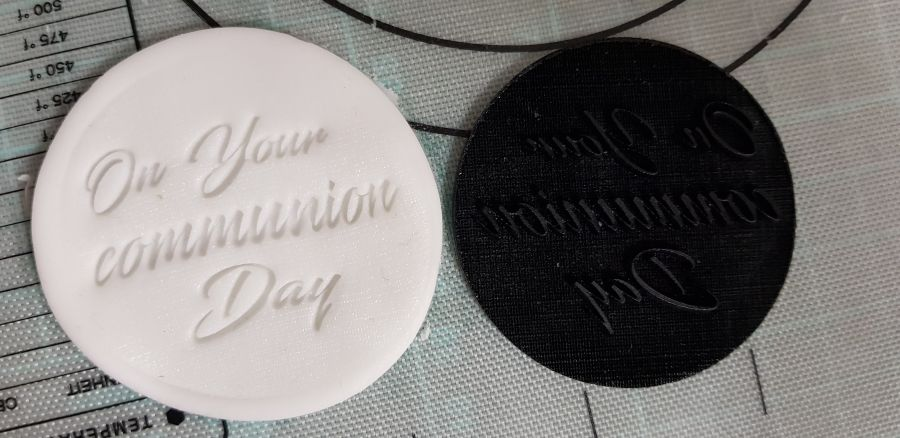 On your communion day acrylic stamp for fondant