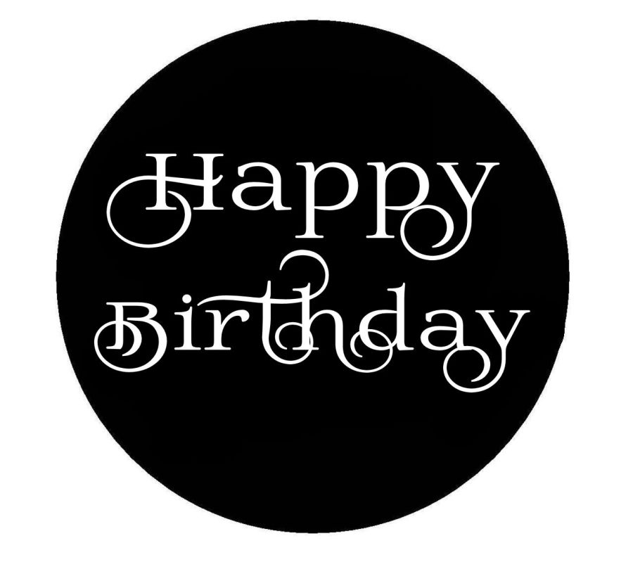 Happy Birthday swirl acrylic stamp for fondant