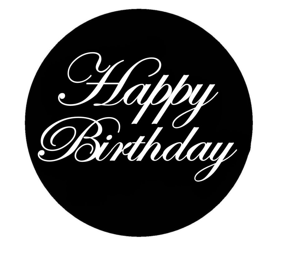Happy Birthday edwardian acrylic stamp for fondant