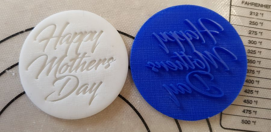 Happy Mothers day Black sward acrylic stamp for fondant