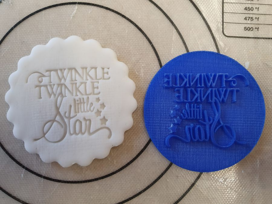 twinkle twinkle little star acrylic stamp for fondant