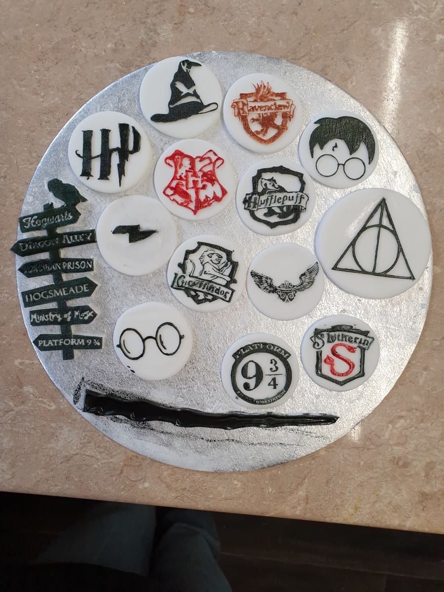 Harry potter cupcake embossing fondant Boss stamps