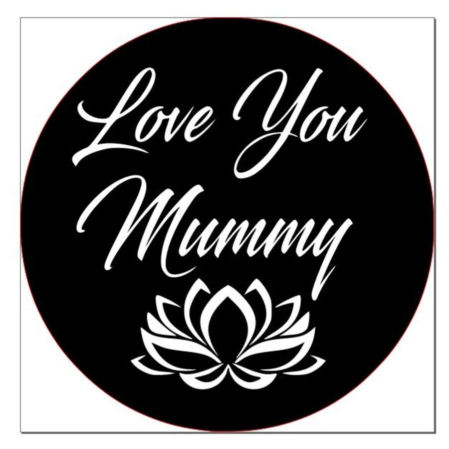 love you mummy with flower acrylic stamp for fondant