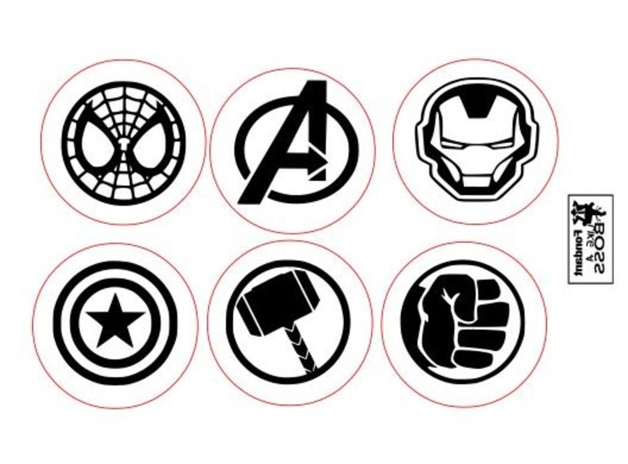 2 inch round stamps, Marvel stamps that stand out