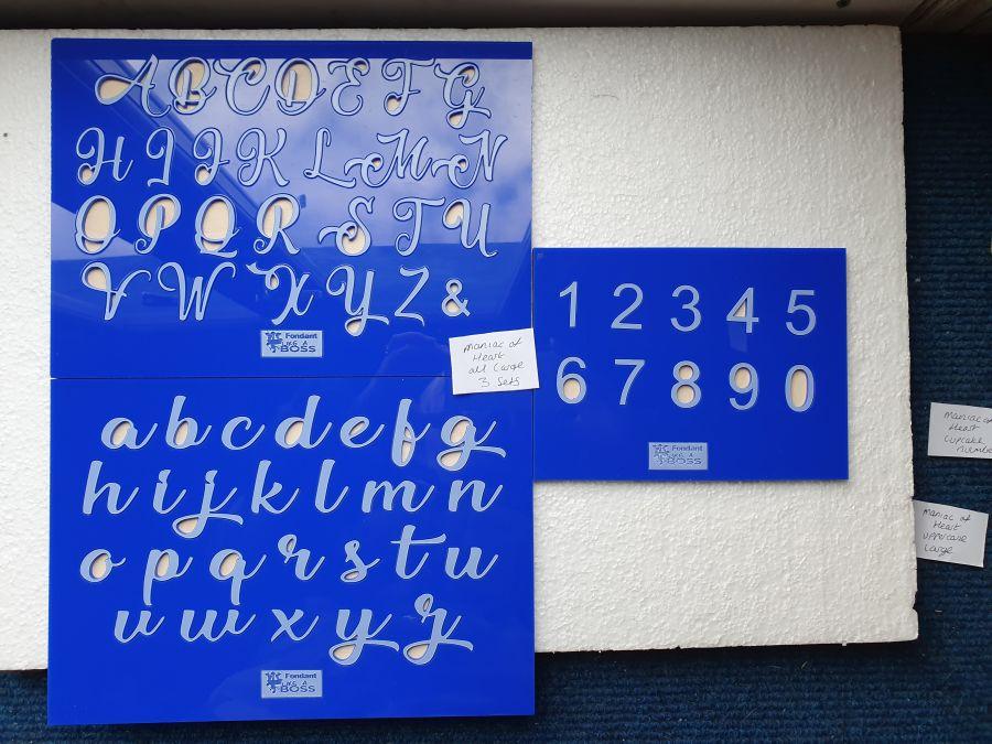 Maniac of the heart fondant boss Alphabet Stamps