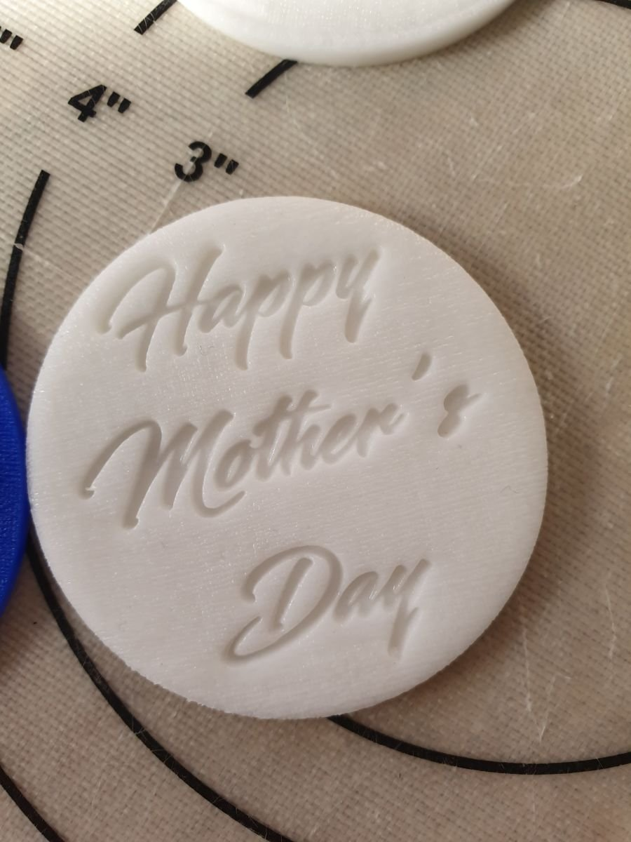 Black sward Happy Mothers day acrylic stamp for fondant