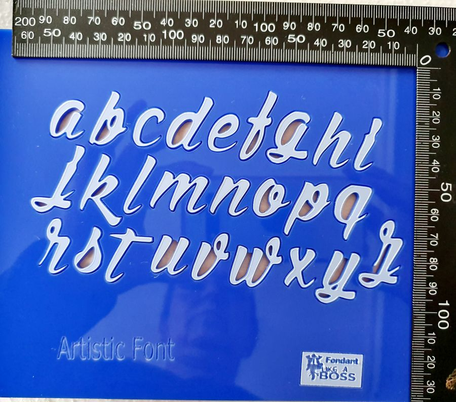 The artistic font  fondant boss Alphabet Stamps
