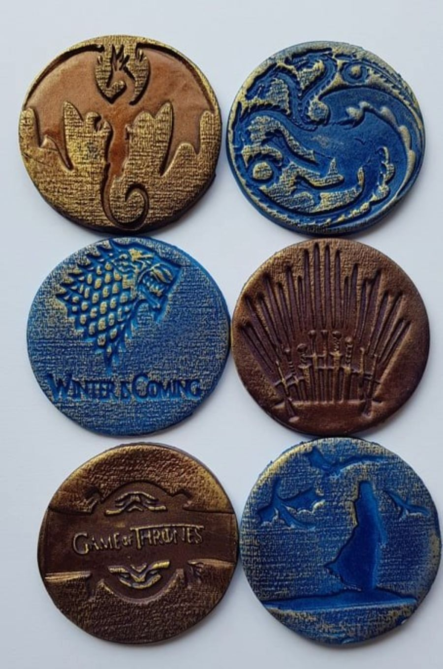 2 inch round stamps, Game of thrones fondant boss stamps