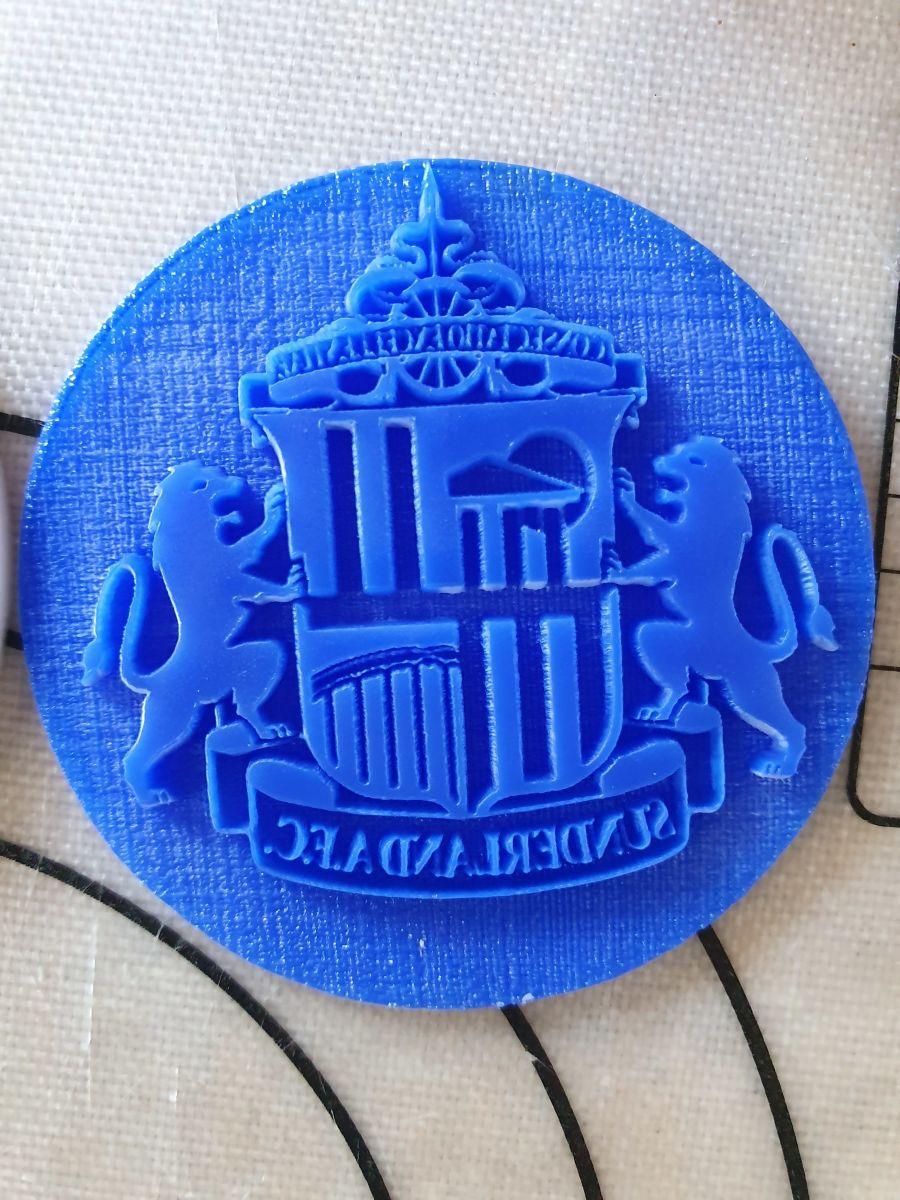 Sunderland emblem 2 inch acrylic stamp for fondant