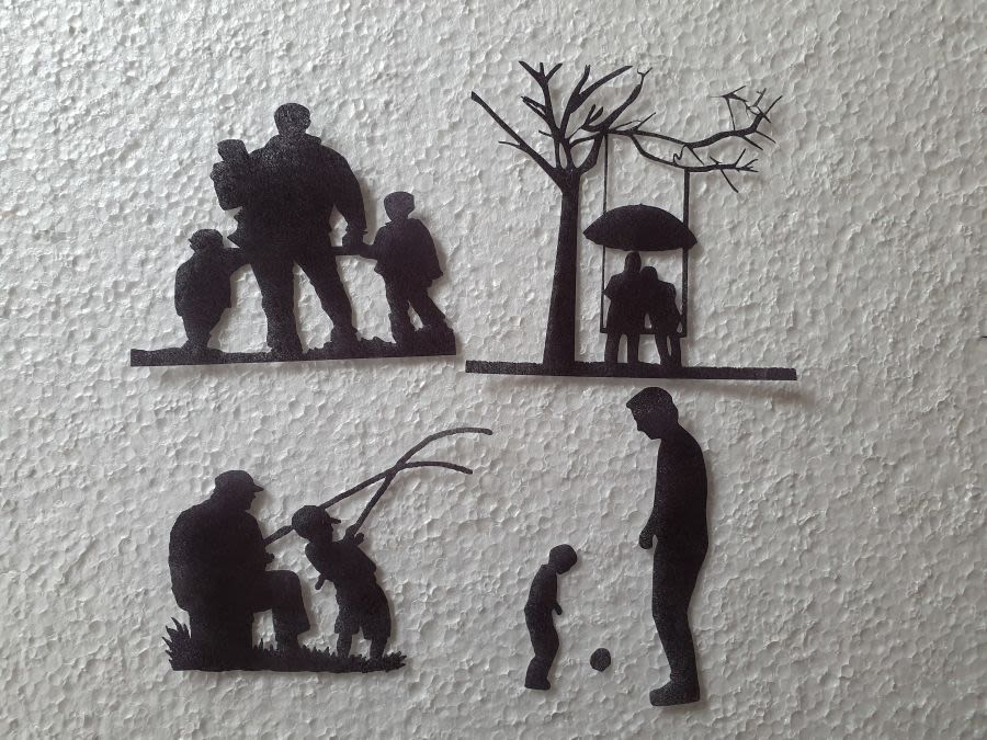 granddad down the years 4 tier sugar silhouette cut outs