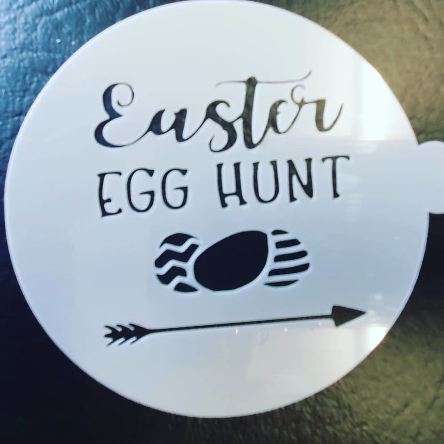 Easter egg hunt 2 inch and up stencil