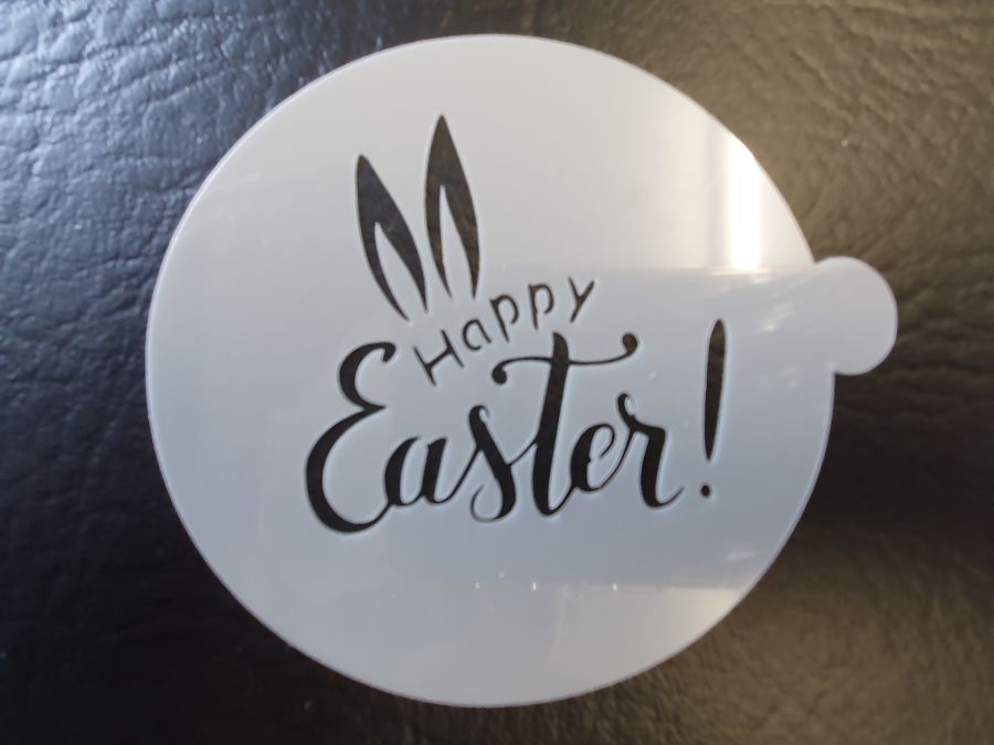 bunny ears happy easter 2 inch and up stencil