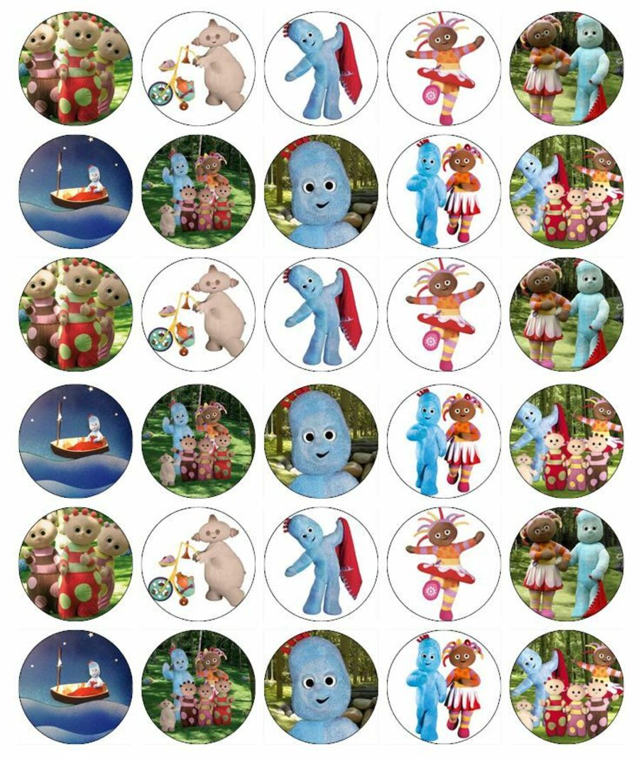 In The Night Garden Cupcake Toppers X 30