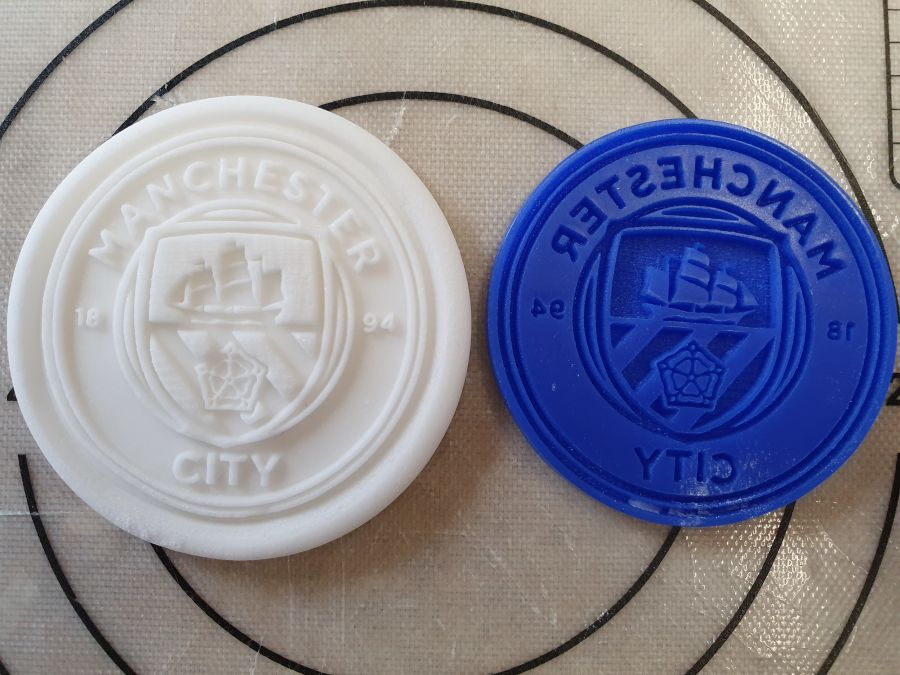 Manchester City logo 2 inch acrylic stamp for fondant