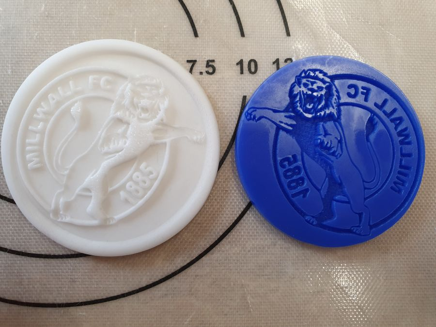 Millwall Fc 2 inch acrylic stamp for fondant