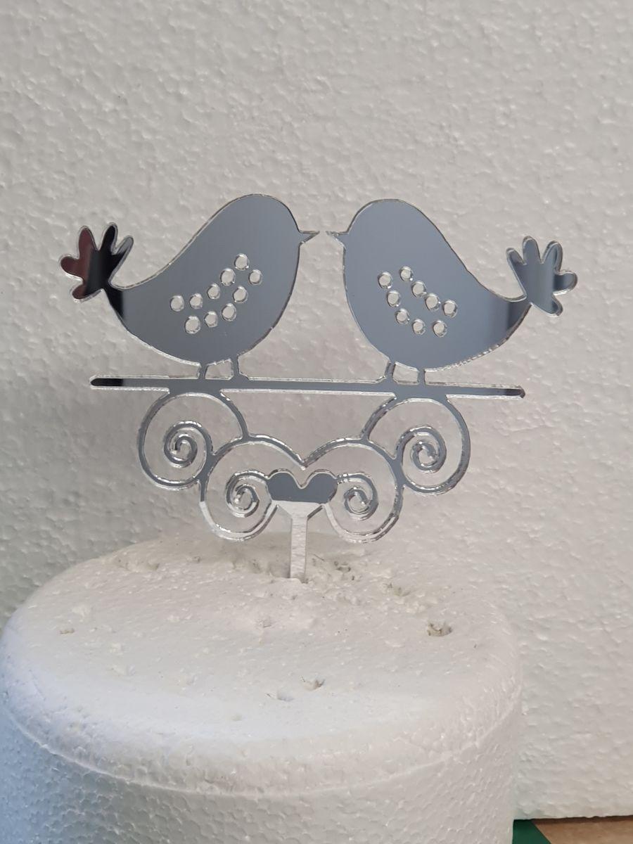 the 2 love birds acrylic cake topper