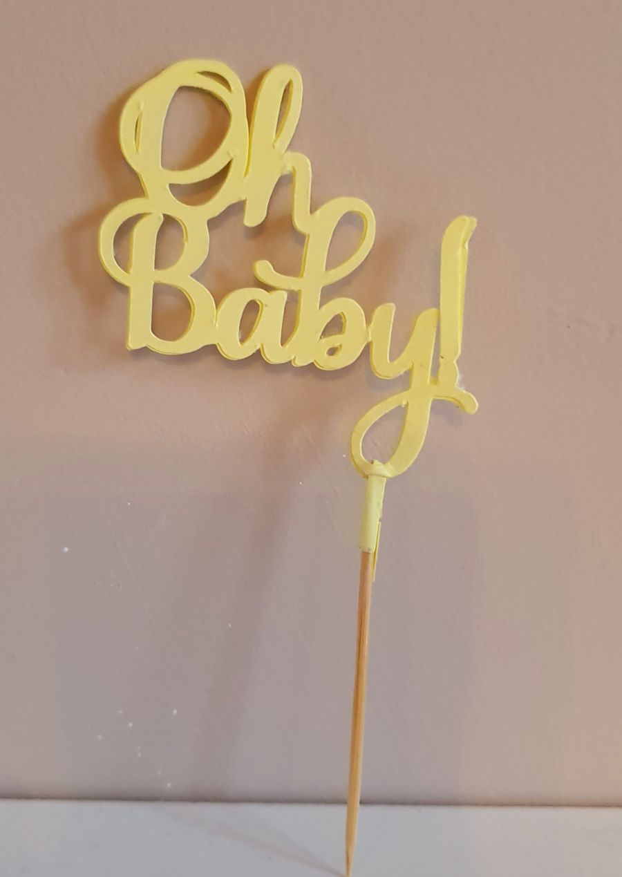 Oh baby! cake card topper double sided card
