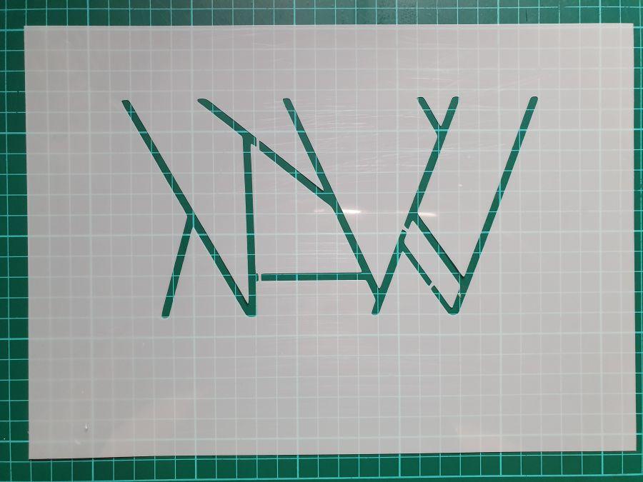 geometric lines art deco cake  stencil