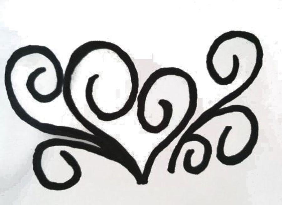 love hearts effect border stencil many sizes