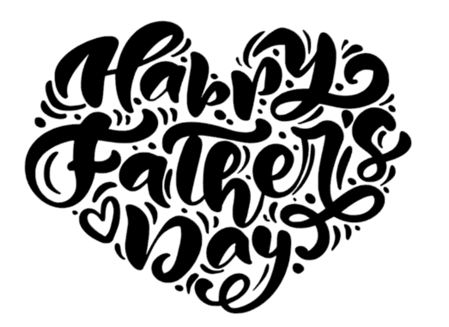 Fancy heart shape  happy Fathers day acrylic stamp for fondant