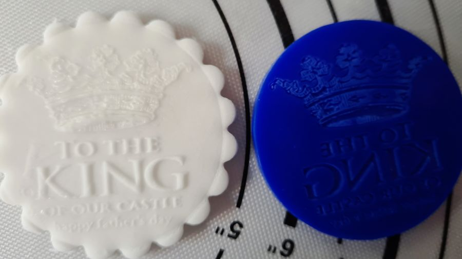 king Fathers day acrylic stamp for fondant