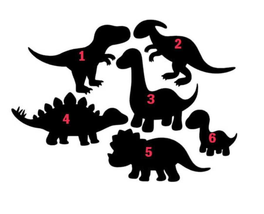 Dinosaur stamps, can be got as full lot, or singles acrylic fondant stamps