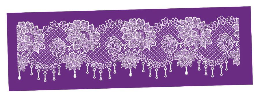 Printing Mesh Stencil | Floral Lace Net | Cake Decorating Craft Cupcakes