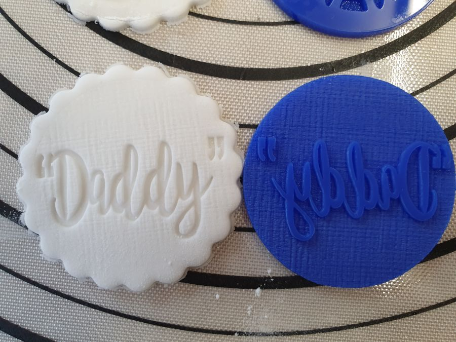 daddy wording  acrylic stamp for fondant