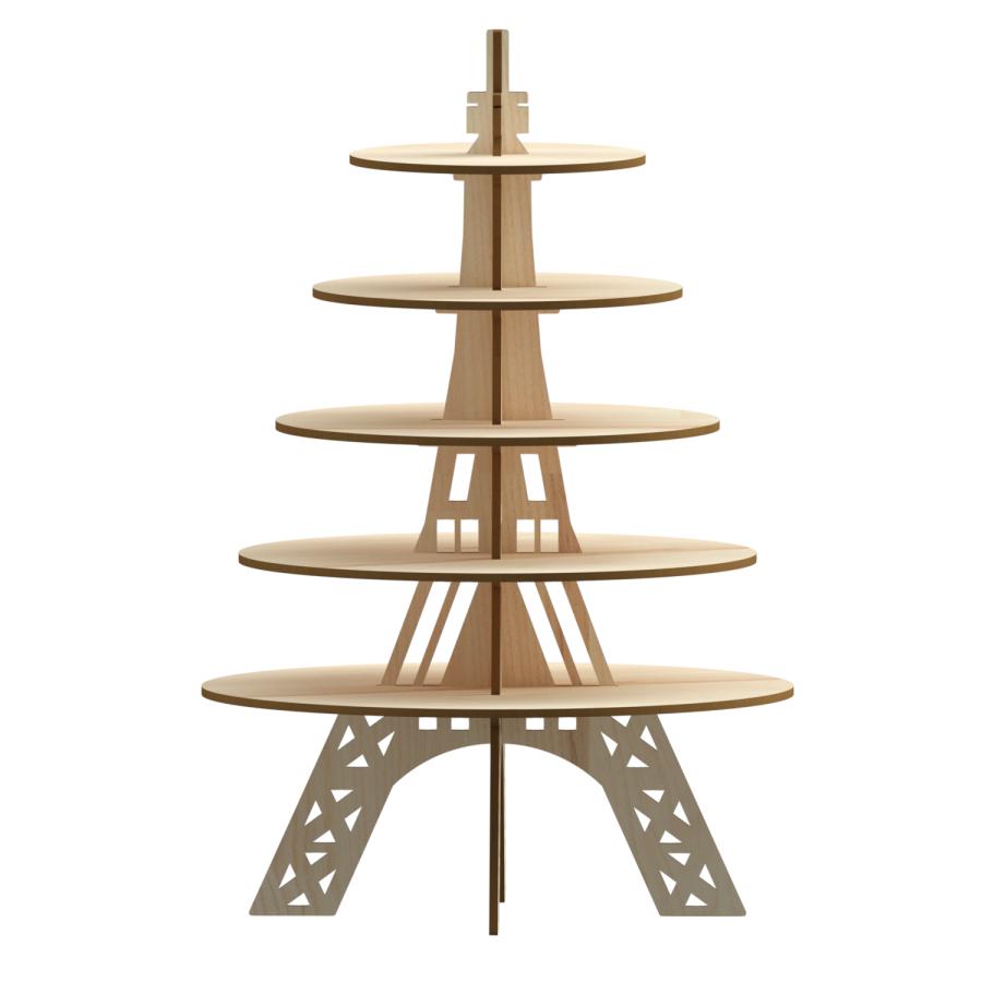5 Tier Eiffel Round Cupcake Stand