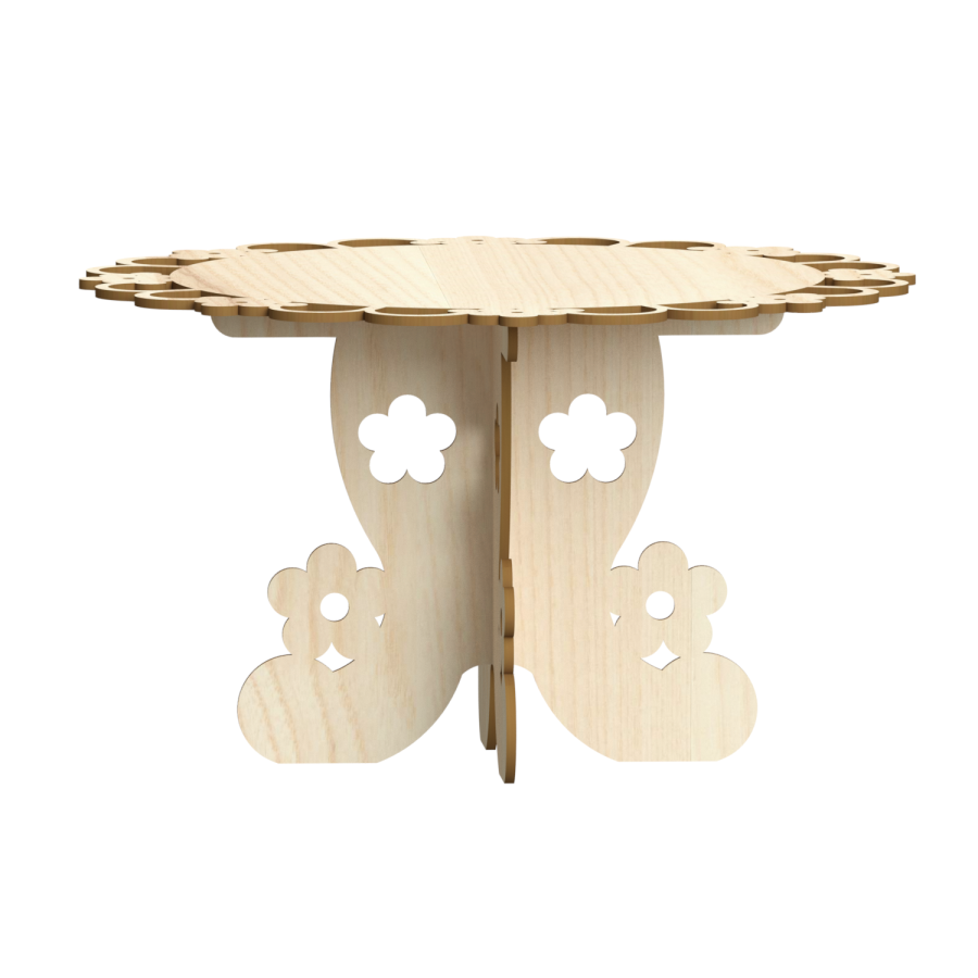 Floral Cake Stand will hold 9 inch cake