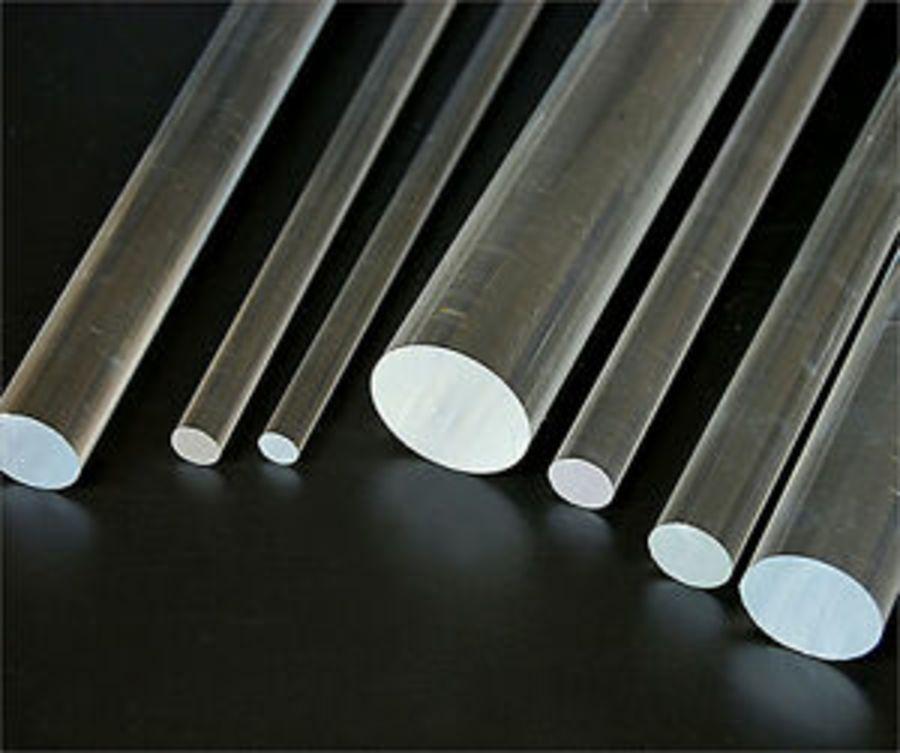 Clear Acrylic Plastic Round Rod Perspex Solid Bar Plastic Circular Dowel