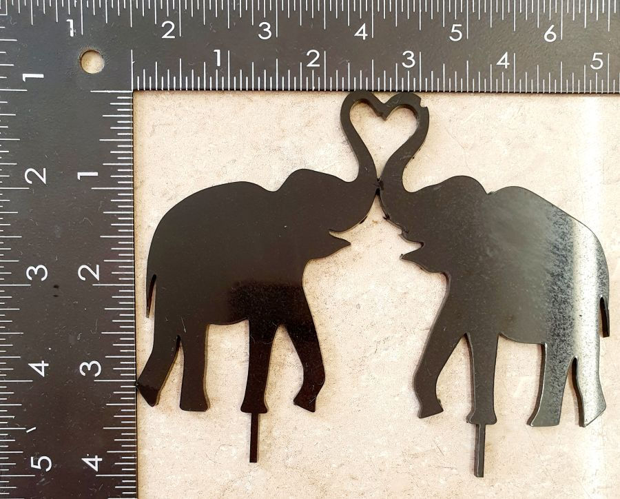 wedding elephants cake topper black acrylic sale item