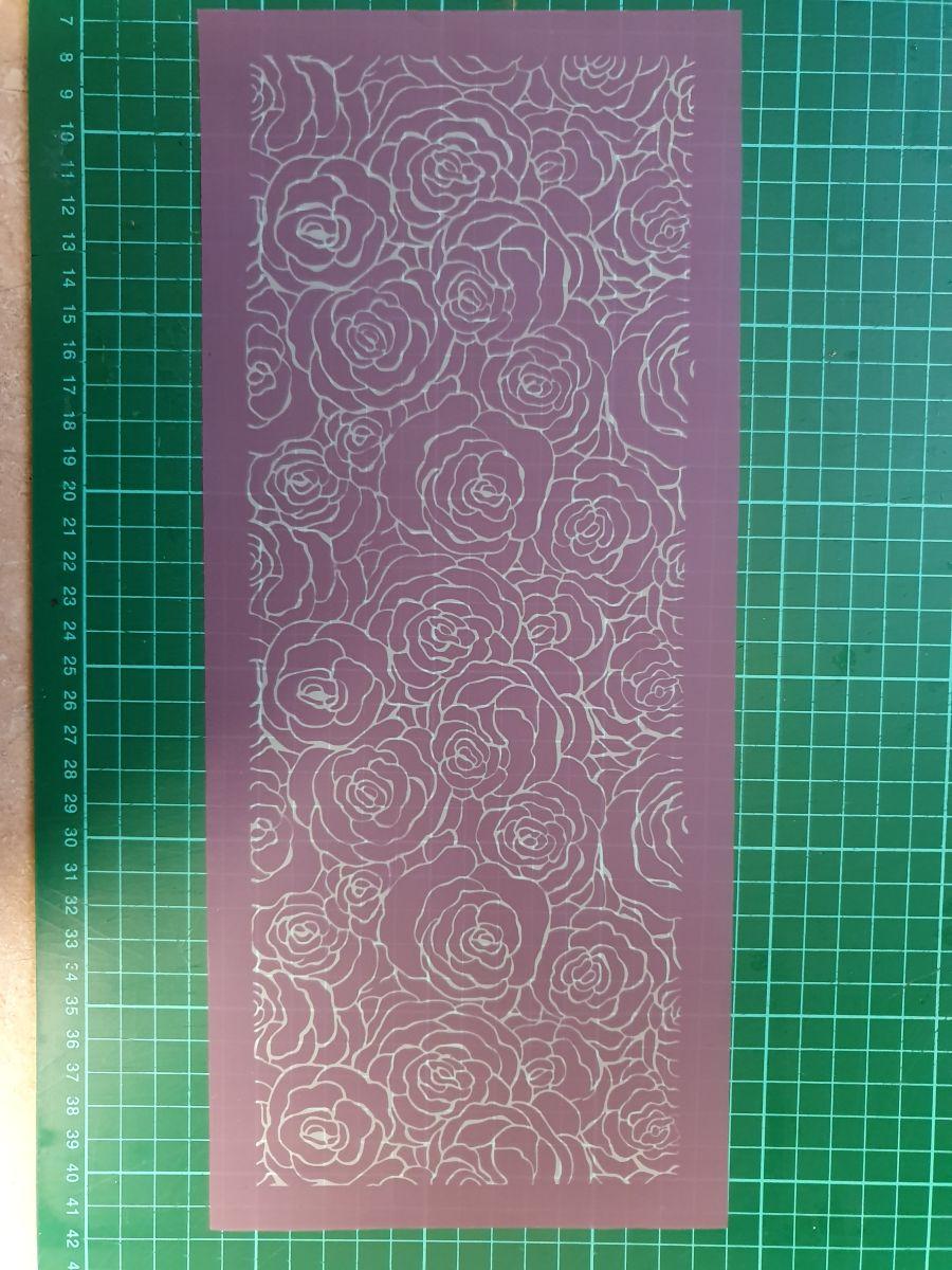 Printing Mesh Stencil | Roses Lace Net mesh stencil
