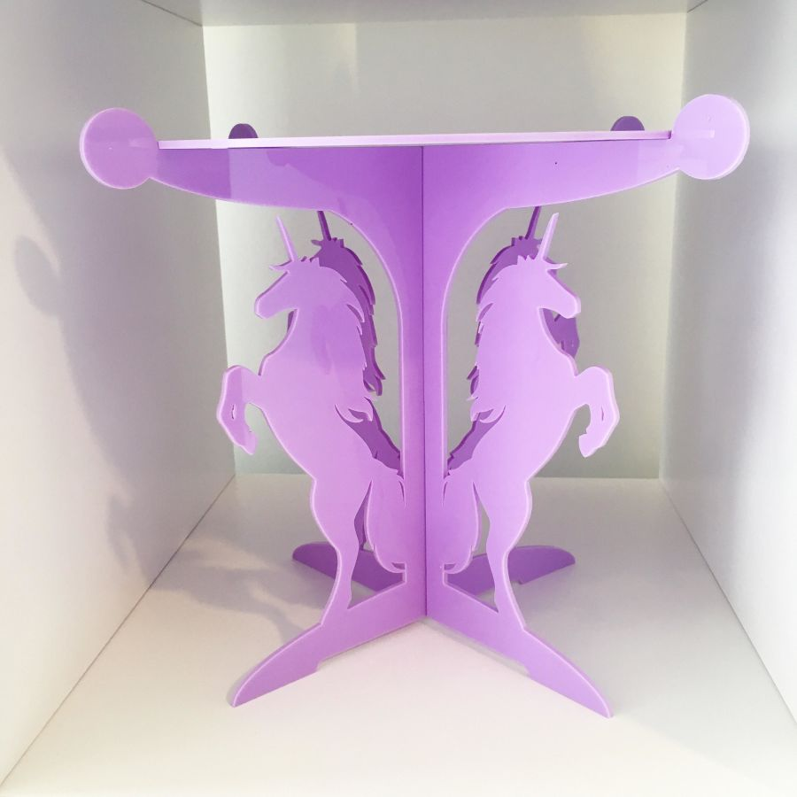 Unicorn 6.3 inch top Cake Stand will holds a 6 inch cake